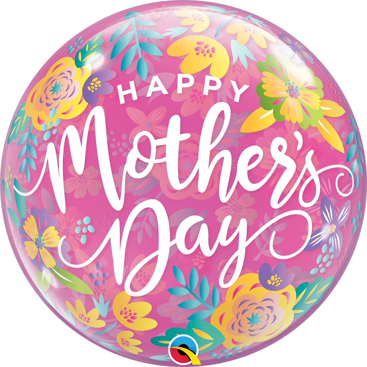 """22"""" Single Bubble Mothers Day Colorful Floral"""