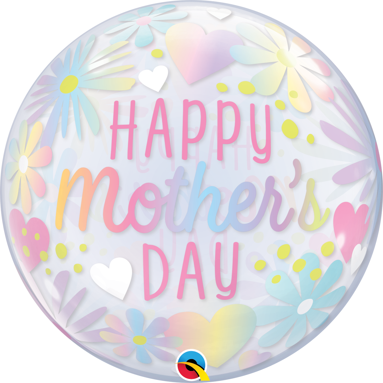 """22"""" Single Bubble Mothers Day Floral Pastel"""