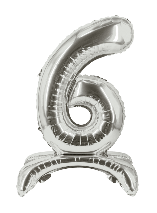 "16"" Stand Up Balloon ""6"" silber"