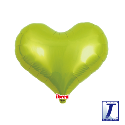 14 Jelly Heart Metallic Lime Green (ibrex)""