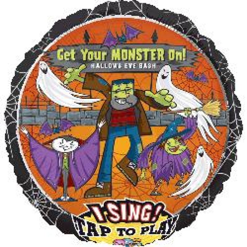 """28"""" Singing Balloon Get Your Monster On"""