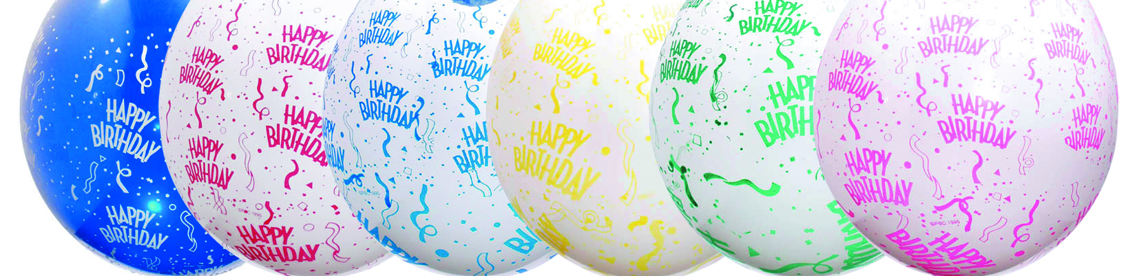 "18"" Verpackungsballon  Happy Birthday Sort."