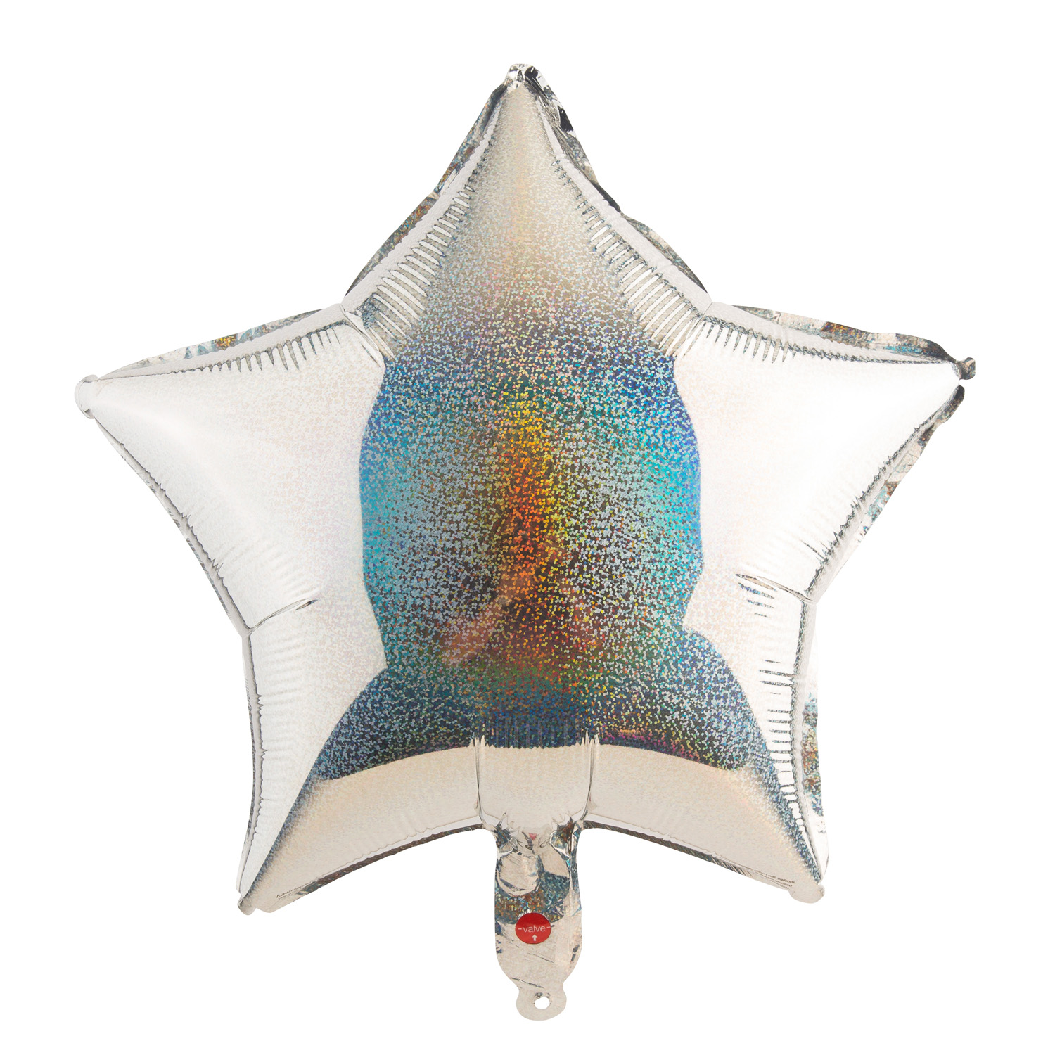 "18"" Star Holographic silber"