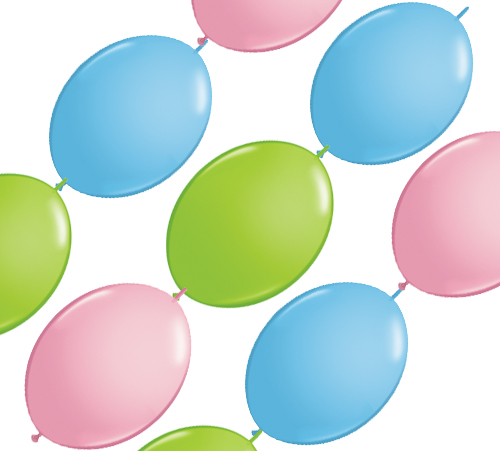 """12"""" Quick Link & Party Banner Pastell Sortiment"""