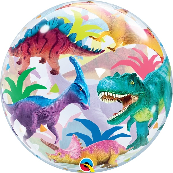 "22"" Single Bubble Colorful Dinosaurs"